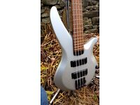 Yamaha RBX 774 active bass guitar - 4 string electric silver Ibanez style