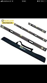 3 piece Stanley fatmax level set and bag