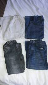 4 pairs of boys trousers age 6-7 / age 7