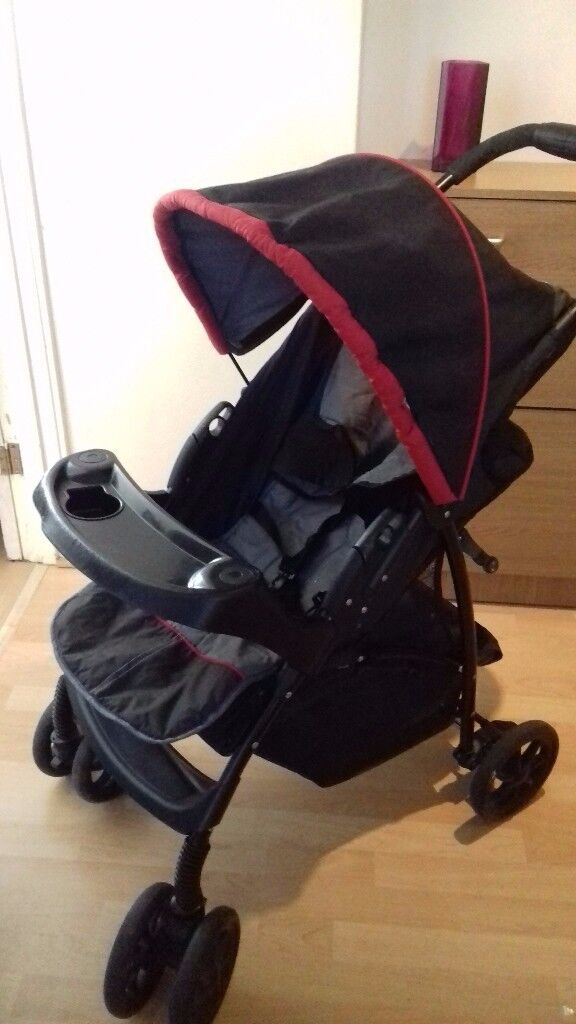 Bargain! Stylish hooded Mothercare buggy /pushchair+ footmuff + car seat