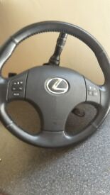 Lexus steering wheel and speedo dials