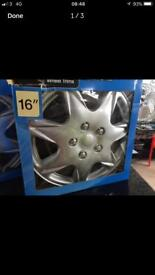 "HALFORDS MILWAUKEE 16"" WHEEL TRIMS"