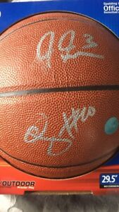 Demar derozan and James Johnson signed basketball