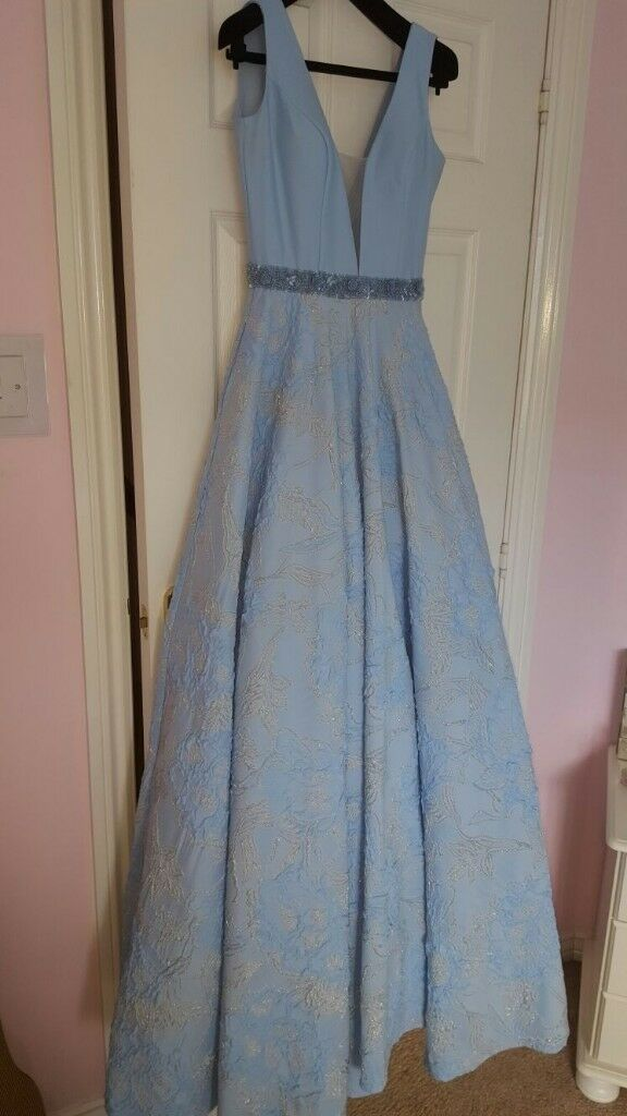 Pale blue occasional dress from Cuckoo, size 8, Prom, wedding, special occasion, worn once