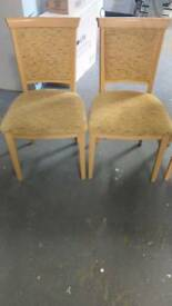 Chairs yellow vgc