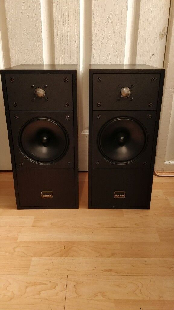 Vintage EPOS Acoustics England ES14 Heavy Bookshelf Speakers