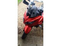Motobike Kawasaki versus like new. Service history and no finance on it with extras