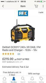 Dewalt dab site radio/charger