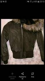 Womens Khaki green miss selfridge Bomber jacket