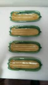 Portuguese corn-on-the-cob dishes or plates