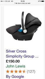 Silver cross simplicity car seat group 0+
