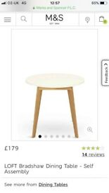 Must go! M&S dining table and chairs