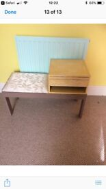 Small table with draws and a cushion seat ideal for telephone unit