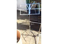 Music Stand. Chrome/ good condition