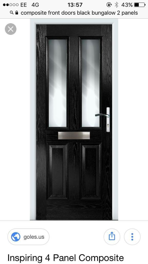 Black composite external front door | in Hartlepool, County Durham ...