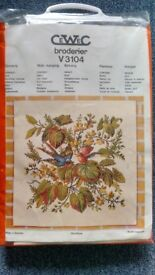 Sewing / Embroidery Craft kits, Wall hangings, New, all materials provided