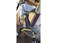 Mothercare Urbanite stroller & rain cover.