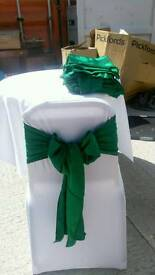 Emerald green chair sashes