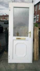 Upvc White door