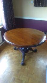 Mahogany breakfast table
