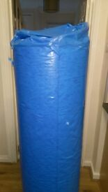 3 rolls of 8mm carpet underlay 15 metre per roll brand new