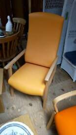 Dining chair orange