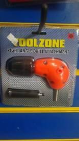 Right angle drill attachment