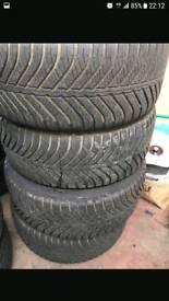 4x 225 45 17 6-7mm tyres