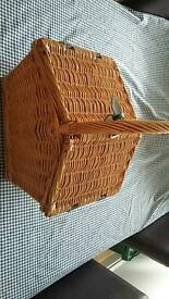 Picnic hamper basket lovely condition like new .
