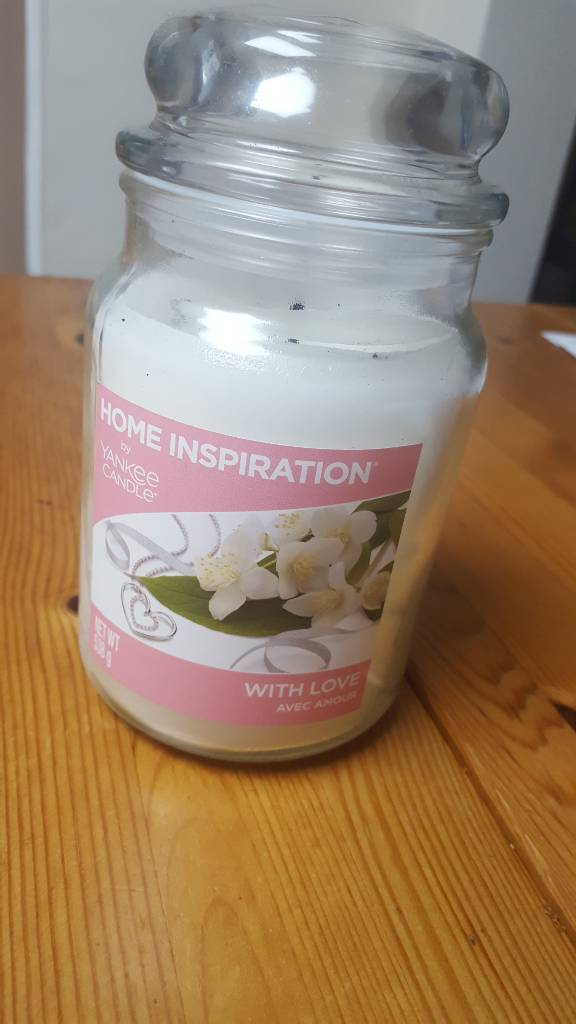 """""""With love"""" Yankee Candle 538ml jar, little used"""