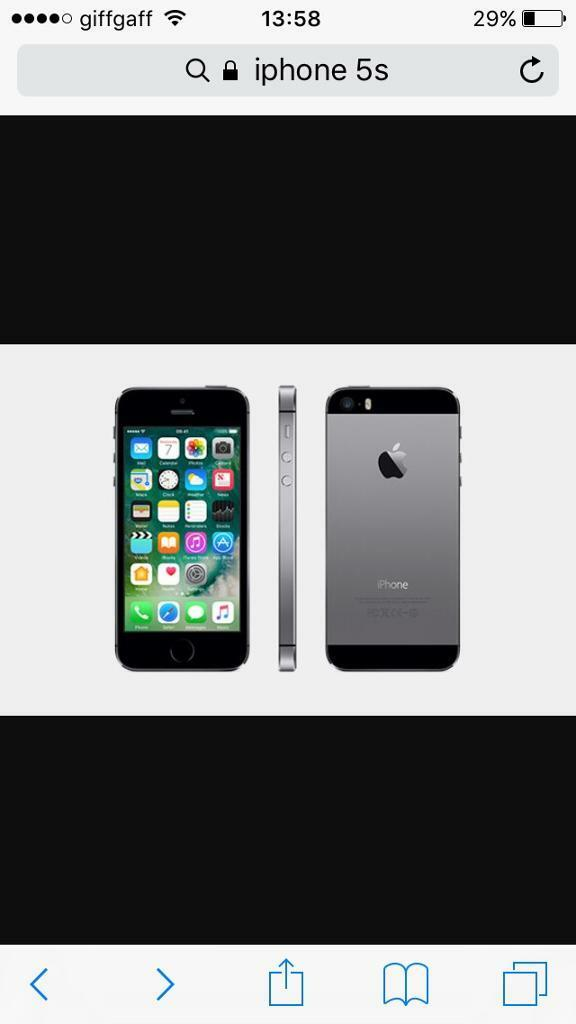 IPhone 5s ,02/giffgaffin Hebburn, Tyne and WearGumtree - Selling my iPhone 5s slate grey mint condition has glass screen protector on,its on 02/giffgaff not sure if unlocked will be fully reset. Ack to factory settings and iCloud removed .sorry dont have box cent find it but who needs one anyway has USB...