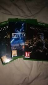 Xbox One games (open to offers)