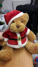 Christmas plush bear toy