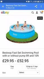 Swimming pool £10