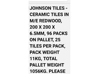 Johnson Ceramic Tiles in a box or pallet and different colour