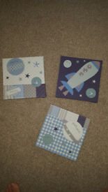 Space mission themed wall plaques