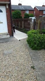 3 bed semi detached corner house selby huge garden. Has loads of potential.