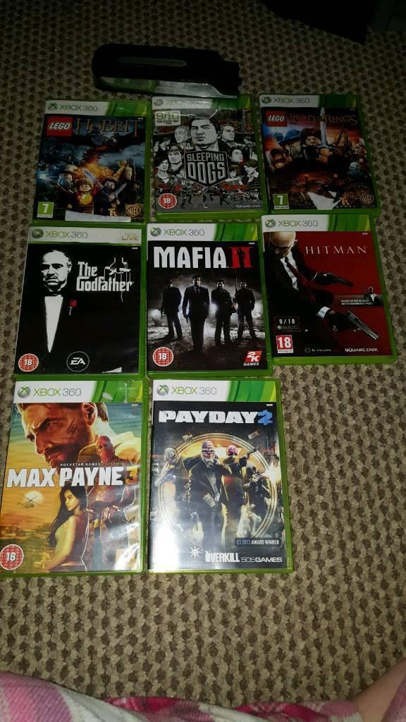 Xbox 360 games plus 120gb hdd