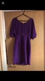 ASOS purple drape dress size 6