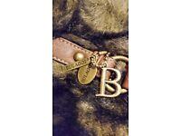 Brand new Ladies Bulaggi Faux Fur/Leather Brown Handbag- Excellent for Christmas