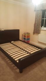 Small double bed from Harveys with free matress and side drawer