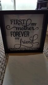 First my mother forever my friend handmade photo frame