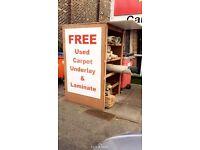 FREE USED Carpet, Underlay & Laminate
