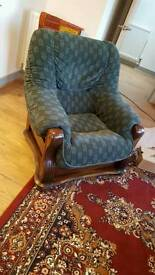 Shabby chic vintage arm chair