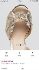 ASOS Gold Wedges