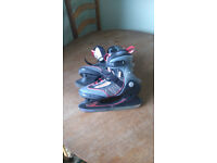 Ice Skates for sale Bsquare size7UK 41 EU Good Condition,Grey with Red Trim,Velcroand lace