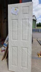 """Brand New: Premdor, 6 panel grained 2'3"""" door"""