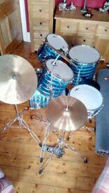 5 piece beginners drum kit.