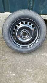 Vauxhall Astra spare wheel with brand new tyre and tool kit