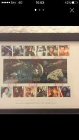 Complete set of Star Wars collectible limited edition first class stamps
